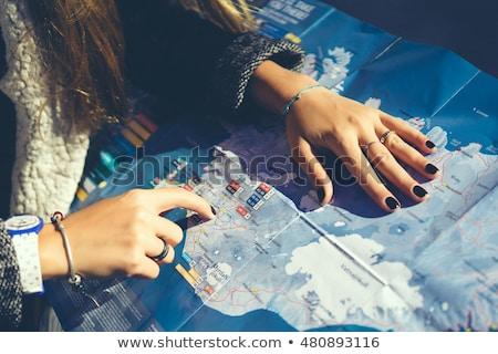 Nő utazó 4x4 kalandor felfedez célpontok Stock fotó © Anna_Om