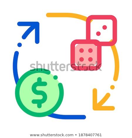 Uitwisseling teken dobbelstenen geld gokken Stockfoto © pikepicture
