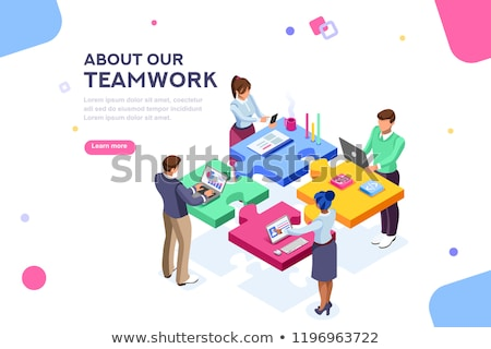 Team Building - Creative Business Concept. Web Design Template. Stock photo © tashatuvango