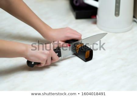 açougueiro · faca · homem · chef · trabalhador · branco - foto stock © vladacanon