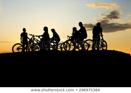 Gang Bike and yellow sunset Stock photo © Lopolo