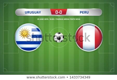 Uruguay vs Perù calcio match illustrazione Foto d'archivio © olira