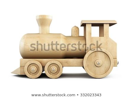 Trem locomotiva 3D 3d render ilustração Foto stock © djmilic