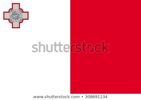 Malta banderą biały tle podpisania fali Zdjęcia stock © butenkow