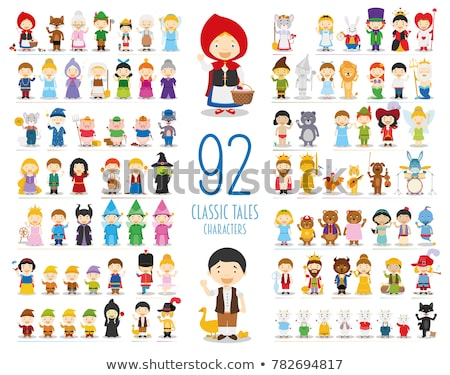 Set of fairy tale fantasy cartoon character  on white background Stock photo © bluering