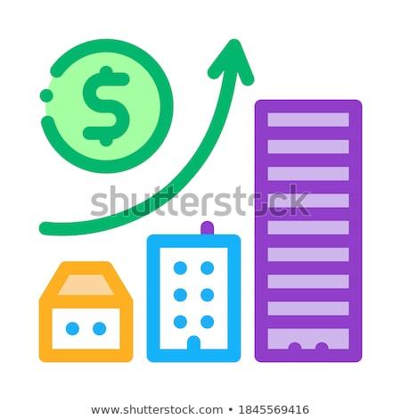 金銭的な 建設 住宅の 建物 アイコン ベクトル ストックフォト © pikepicture