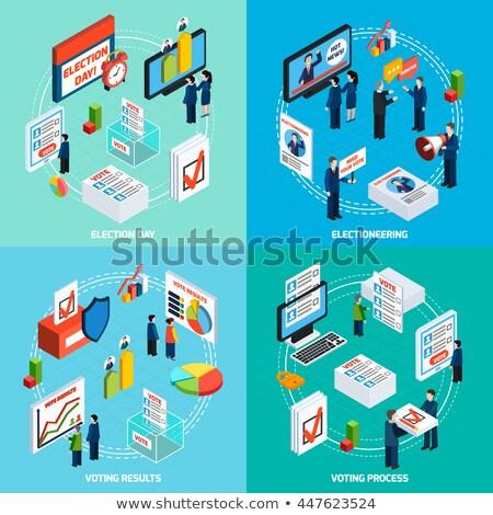 Voting Debate isometric icon vector illustration Stock photo © pikepicture