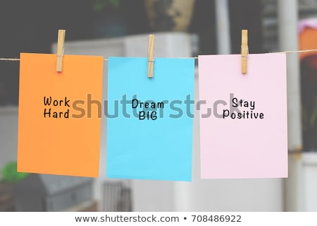 Focus, Colorful words hang on rope stock photo © Ansonstock