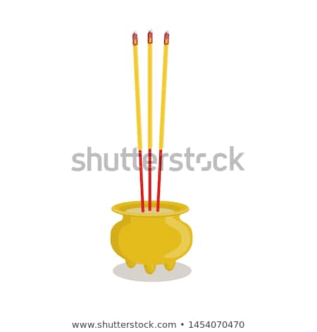 Joss sticks and candles burning at a temple Stock photo © bbbar
