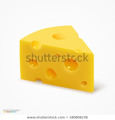 Cheddar Cheese with Reflection Stock photo © cidepix