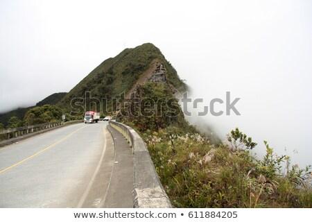 Bolívia sinal da estrada verde nuvem rua assinar Foto stock © kbuntu