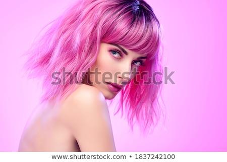 blond · vrouw · portret · mooie · Rood - stockfoto © aladin66