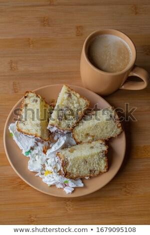 kahve · fincanı · süt · tatlı · tatlı · glasaj · şekeri - stok fotoğraf © aladin66