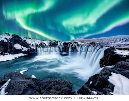 arctic power in winter at night stock photo © gwhitton