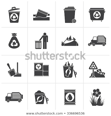 recycle container with radiation sign Stock photo © dengess