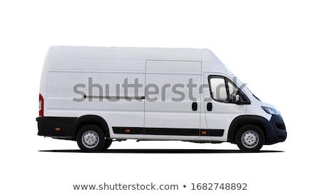 Stock photo: White van