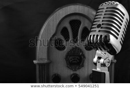 Tuning bellen vintage radio kant tonen Stockfoto © Qingwa