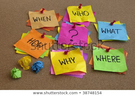 Unanswered questions - brainstorming concept Stock photo © bbbar