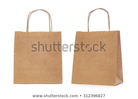 Hartie de ambalaj pungă de cumpărături alb Imagine de stoc © devon
