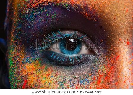 Close up of colorful eyeshadows Stock photo © ozaiachin