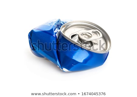 Compressed beer can background close up  Stock photo © cozyta
