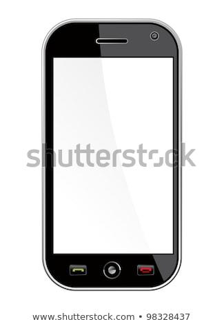 Algemeen geïsoleerd witte zwarte smartphone Stockfoto © cienpies