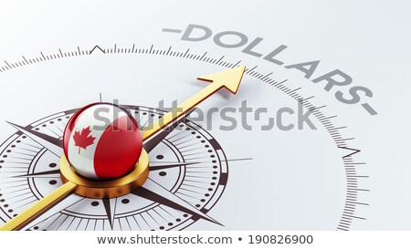 Compass and canadian dollar Stock photo © devon