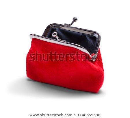 Sikke çanta deri beyaz siyah Stok fotoğraf © PaZo