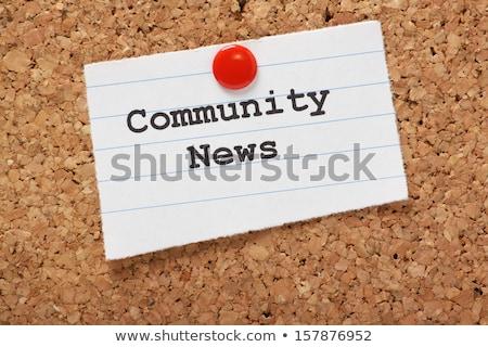 Stockfoto: Gemeenschap · nieuws · krant · rollen · witte