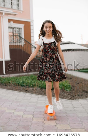 Girl in sundress Stock photo © zastavkin