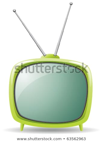 vector symbol of green retro tv set Stock photo © freesoulproduction