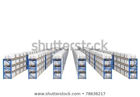Raflar 60 üst perspektif görmek mavi Stok fotoğraf © JohanH