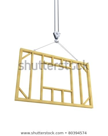 guindaste · estrutura · céu · madeira - foto stock © photography33