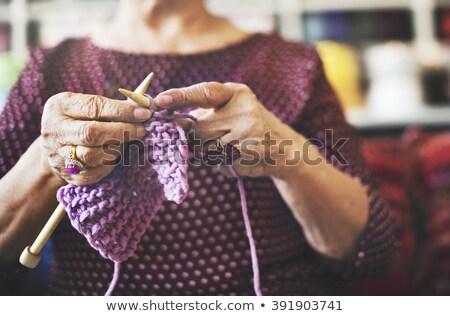 senior · neta · casa · feliz · trabalhar - foto stock © vividrange