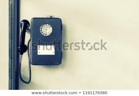 nyilvános · illetmény · telefon · kék · város · telefon - stock fotó © annakazimir