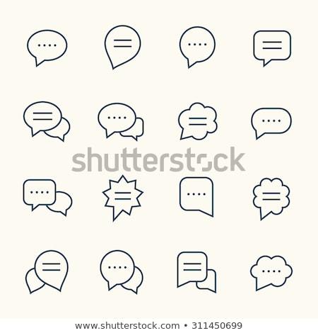 ストックフォト: 吹き出し · 社会的ネットワーク · 言葉 · 白 · インターネット · デザイン