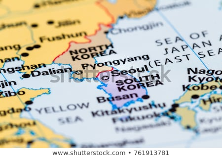 Map in colors of South Korea Stock photo © perysty