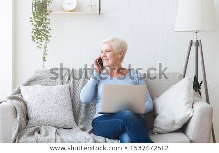 Senior Lady Multitasking stock photo © lisafx