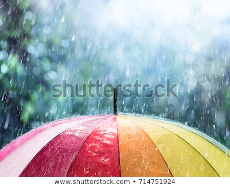 background with an umbrella  and rain Stock photo © teirin_toys