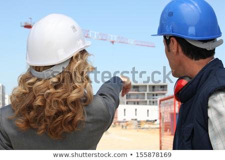 mestre · aprendiz · juntos · família · construção · de · volta - foto stock © photography33