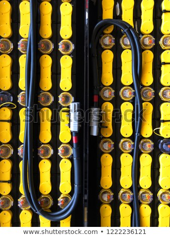 Traction battery of a forklift Stock photo © jakatics