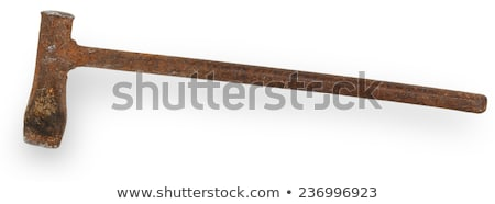 Construction worker with pickaxe on white background Stock photo © photography33