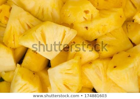 ananas · fruits · tranches · isolé · blanche - photo stock © gbuglok