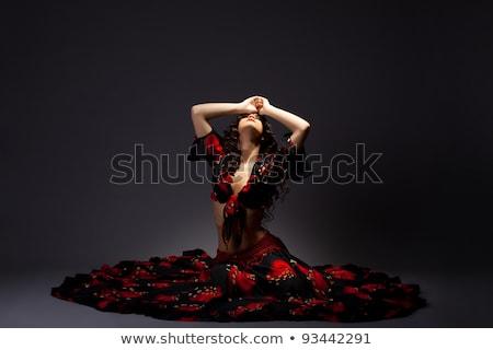 dancing gypsy woman stock photo © acidgrey