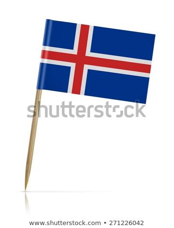 Miniatuur vlag IJsland geïsoleerd vergadering Stockfoto © bosphorus