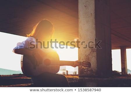 Klasszikus női énekes retro illusztráció nő Stock fotó © paulfleet