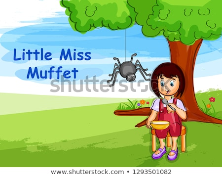Little Miss Muffet Stock photo © piedmontphoto