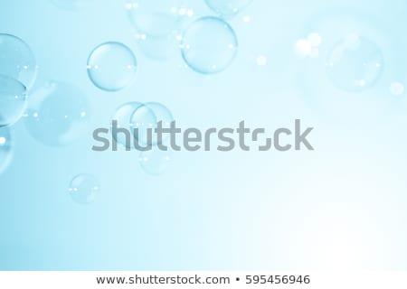 Bulle bleu bulles boire propre Splash Photo stock © linfernum