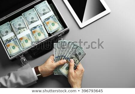 Caso completo dinheiro pasta americano dólares Foto stock © leeavison