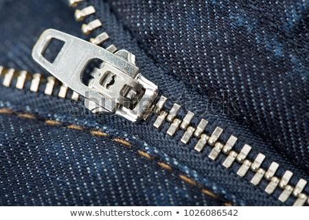 молния джинсов текстуры ткань Сток-фото © kornienko